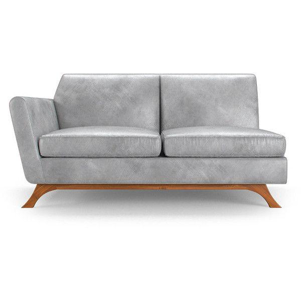 Modern Sectional Sofas Joybird Hyland Mid Century Modern Purple Leather Single Arm Loveseat liked on