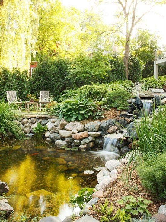 56 best garden walls edging images on pinterest for Garden pond edging