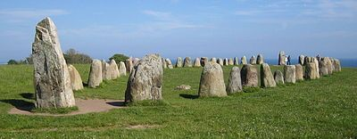 Ale's Stones at Kåseberga, around ten kilometres southeast of Ystad.