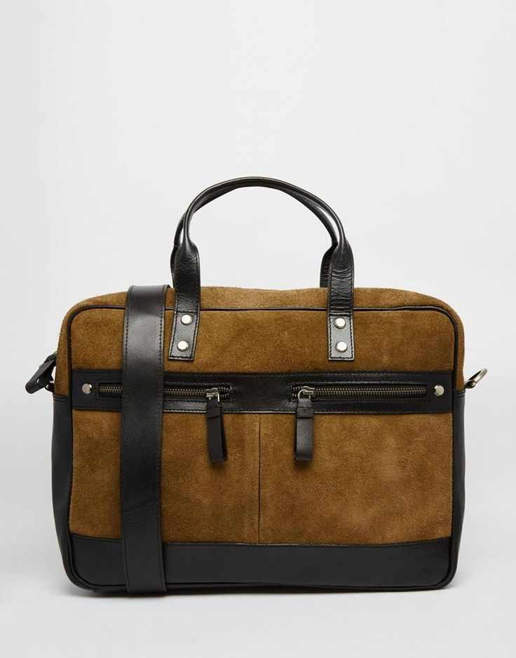 River Island | River Island Tote Bag In Leather And Suede at ASOS