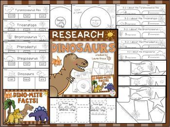 Are you teaching your students about Dinosaurs? This product will provide your students with an easy way to organize their facts and information that they research about dinosaurs. There are a variety of graphic organizers for students to use to record ne