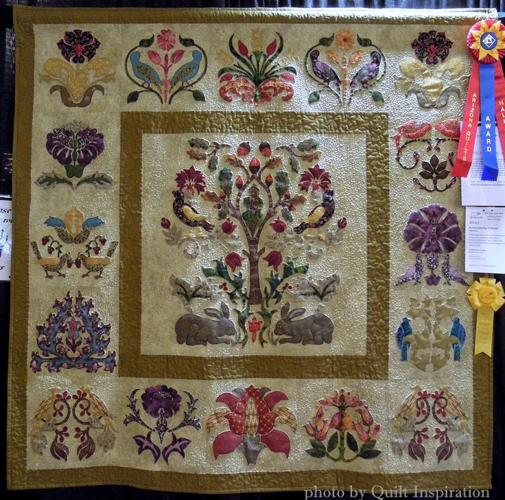 Remembering William Morris by Catherine Vaught,  quilted by Carolyn Helvie