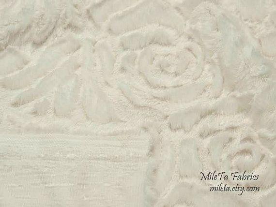 Minky Fabric Roses ultra soft cuddly velboa microfiber by MileTa