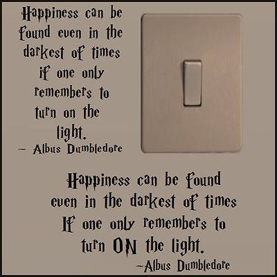 SMALL HARRY POTTER QUOTE DUMBLEDORE TURN LIGHT ON A5 A4 A3 CHOICE ORIENTATION in Home, Furniture & DIY,Home Decor,Wall Decals & Stickers   eBay