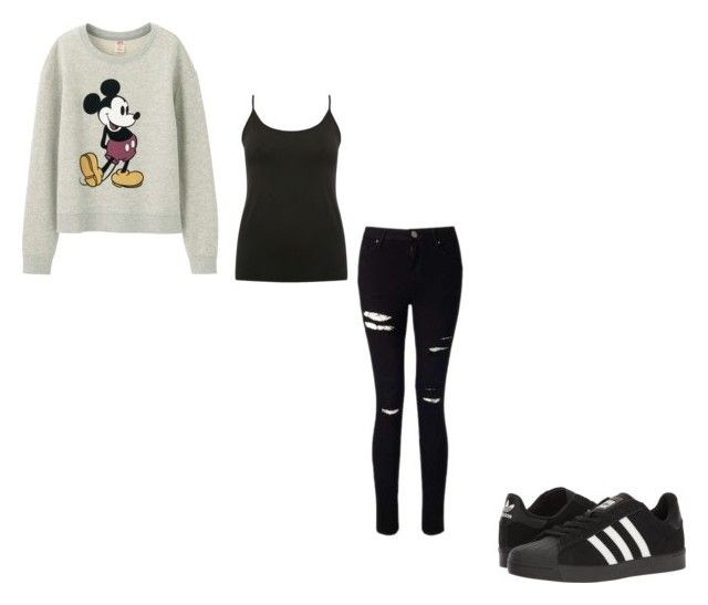 """#377"" by aureeliet on Polyvore featuring Uniqlo, M&Co, Miss Selfridge and adidas"