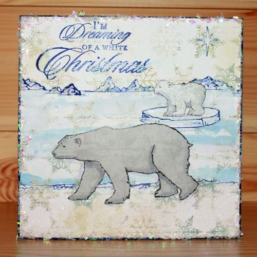 Christmas has arrived at Hobby Art! Introducing CS140D 'Poles Apart' New Size A5 Clear set contains 14 stamps. Designed by Sharon Bennett. Card by Anna Flanders