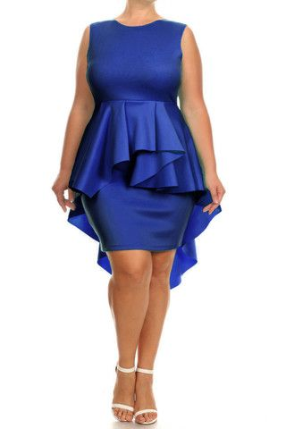 Plus Size For Love Layered Peplum Dress