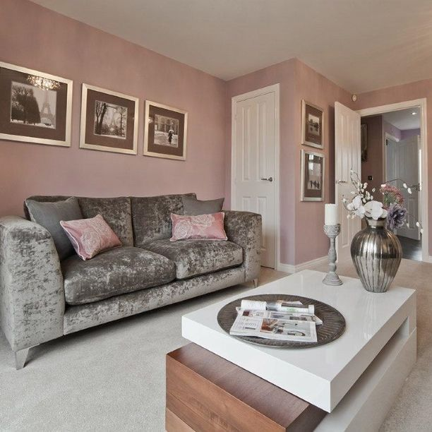 Love The Warm Pink On Wall Xx Find This Pin And More Living Room Ideas