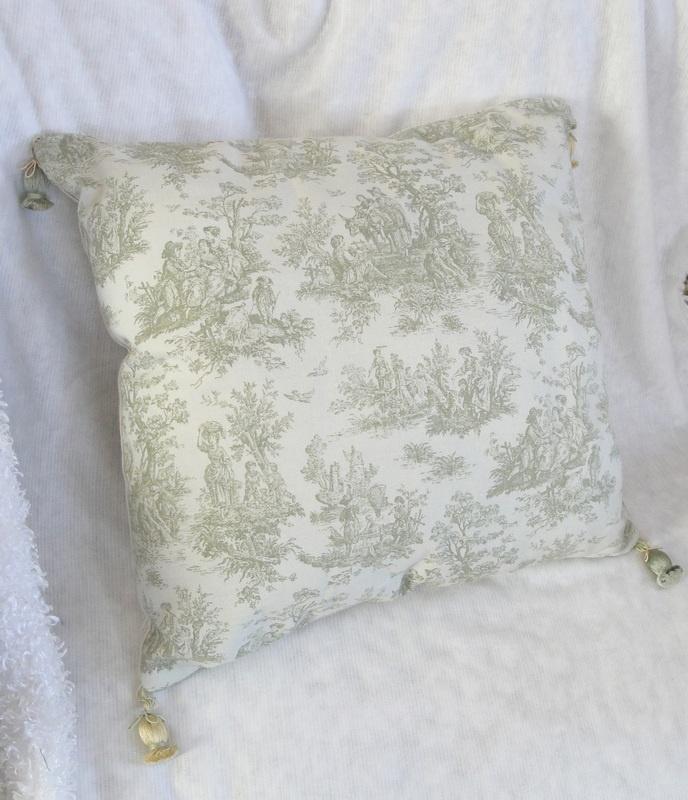 Shabby chic almohadas de tiro decorativos hechos a mano - Cojines hechos a mano ...