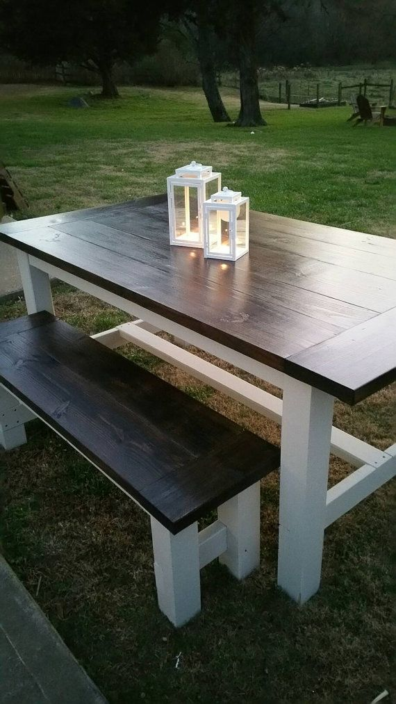 Check out this item in my Etsy shop https://www.etsy.com/listing/264024745/farmhouse-table-85-long-x-38-14-wide-x