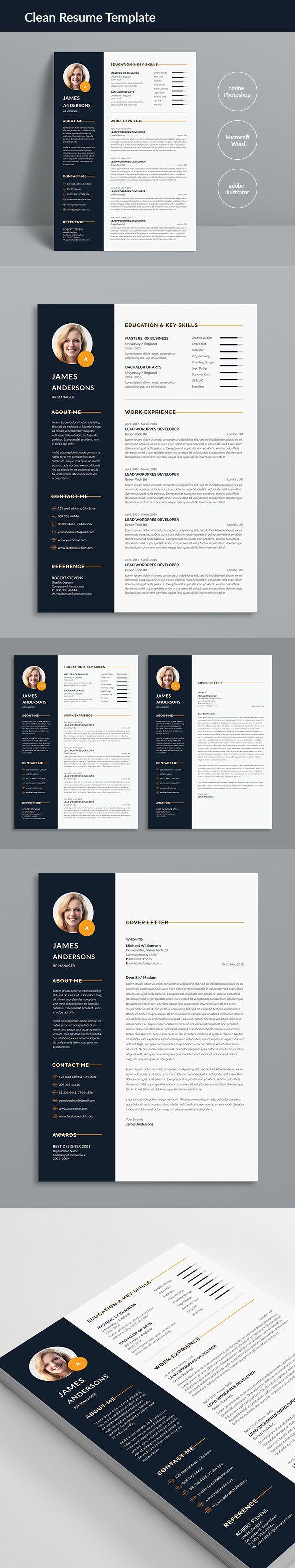 Cv Template Elegant Resume Female Female Resume Feminine Indesign Infographic Modern Mod Unique Resume Template Clean Resume Template Resume Words