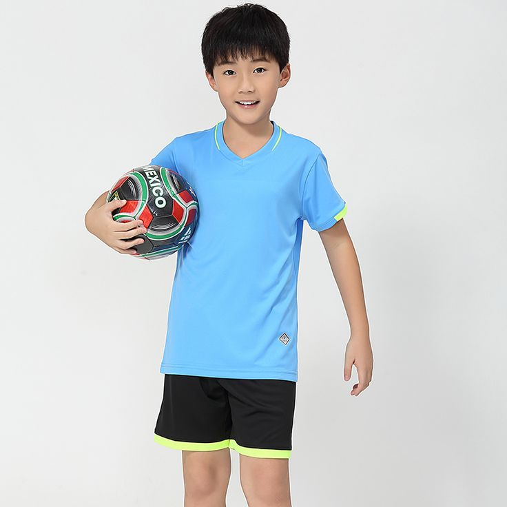 Adsmoney Breathable Professional Customize Soccer Jerseys Tracksuit boy Soccer Set Uniforms Children Football Kit Shirt