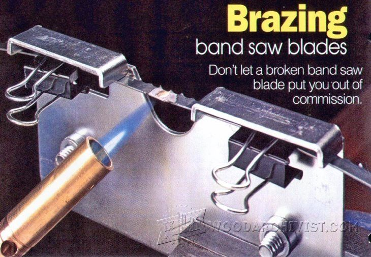 Brazing Band Saw Blades - Band Saw Tips, Jigs and Fixtures | WoodArchivist.com