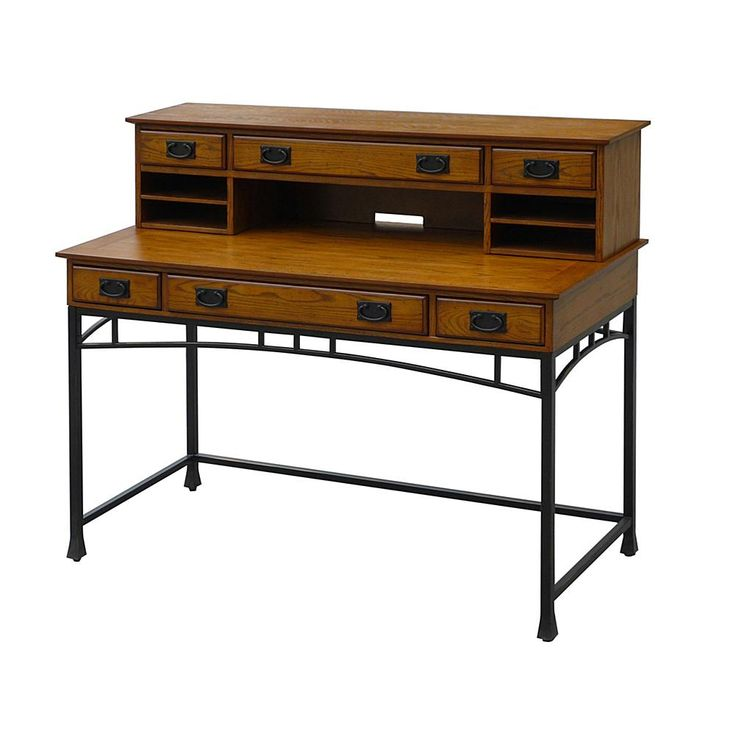 Home Marketplace Home Styles Modern Craftsman Executive Desk with Hutch