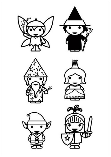 fairytale day coloring page fairy tale characters glue on popsicle sticks for puppets - Printable Popsicle Coloring Pages