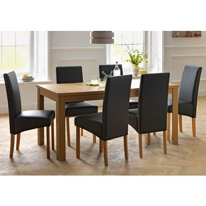 Adaline Oak Table and 6 Chairs at Homebase -- Be inspired and make your house a home. Buy now. | Home | Pinterest | Product display Display and House.  sc 1 st  Pinterest & Adaline Oak Table and 6 Chairs at Homebase -- Be inspired and make ...