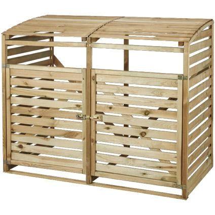 vuilnisbak opberging hout 150 x 120 cm brico voortuin. Black Bedroom Furniture Sets. Home Design Ideas
