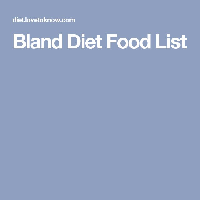 Bland Diet Recipes That I Can Cook