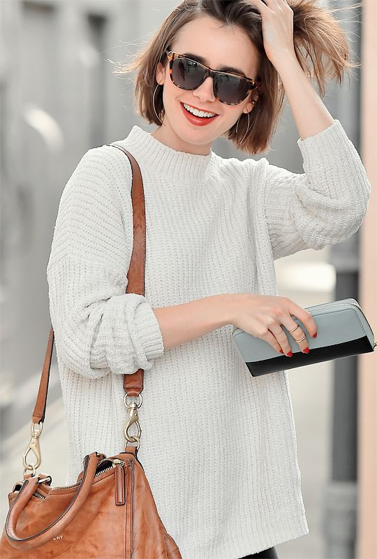 Lily Collins Short Straight Blunt Bob Hair