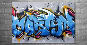 Graffiti name on canvas by GraffitiArtist82