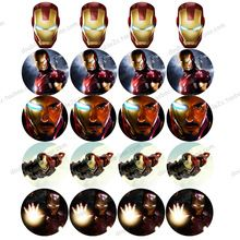 """Comestible oblea de papel para la taza de la torta 2 """" 20 unids/set Avengers Iron Man formación de hielo de papel niños niños de cumpleaños pastel de bodas decoraciones(China (Mainland))"""