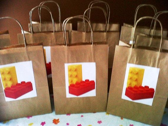 Lego Loot bag. $7.99, via Etsy.
