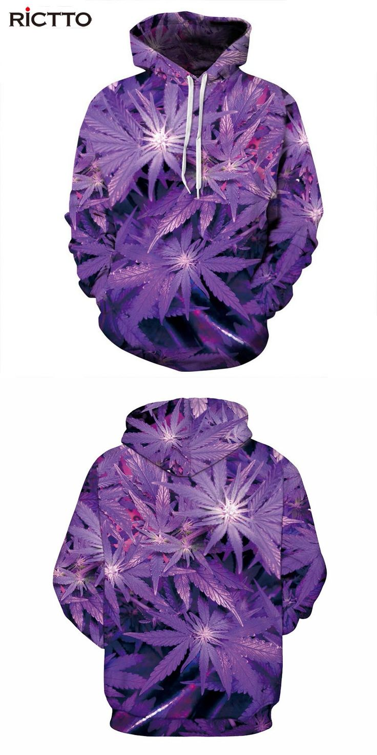 Rictto Nice Purple Leaves Print Men/Women Hoodies With Cap lovely Tracksuits 3d Hooded Sweatshirts Autumn Winter Hoody