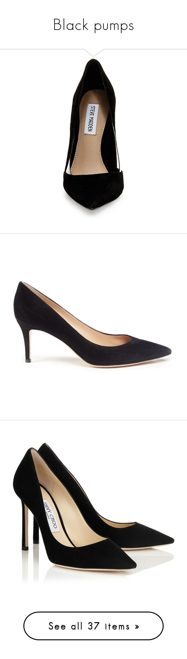 """""""Black pumps"""" by dresslikearoyal ❤ liked on Polyvore featuring shoes, pumps, heels, zapatos, sexy shoes, clear shoes, clear heel shoes, steve madden, clear heel pumps and black"""