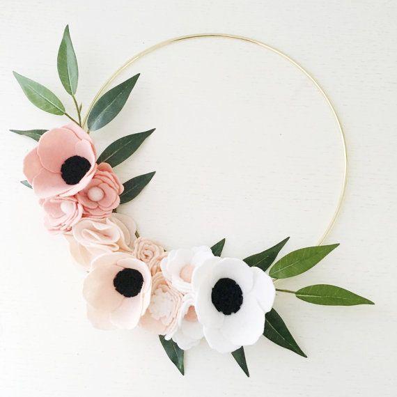 Wreath Pink Ombre Wreath Wreaths Flower Wreath by alisonmichel
