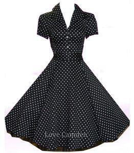 Retro 40's 50's Vintage Style Plus Size Swing Shirt Dress Sizes 18 20 22 24 26   eBay