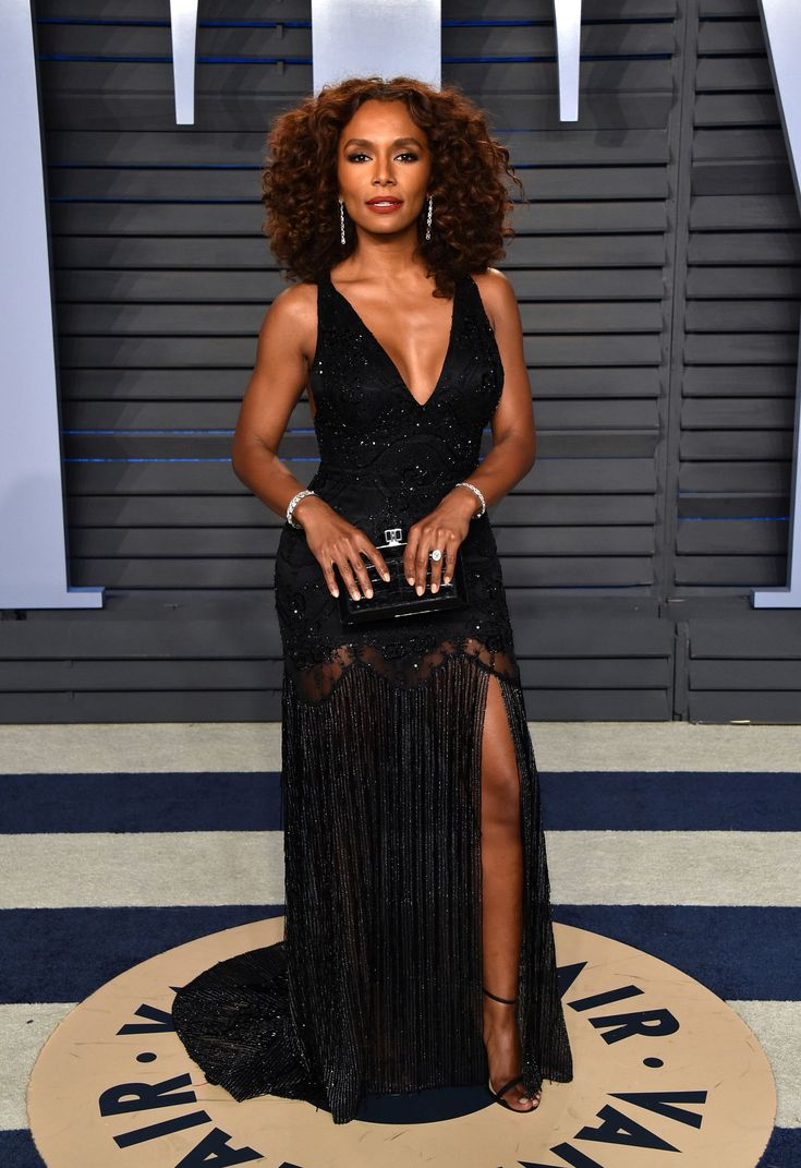 Janet Mock at the Vanity Fair 2018 Oscars afterparty