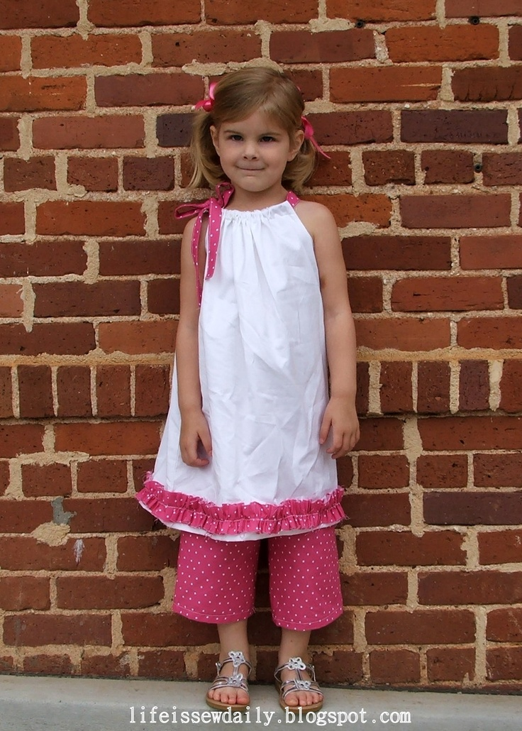 Pillowcase Dress & Matching Capris {Tutorial}