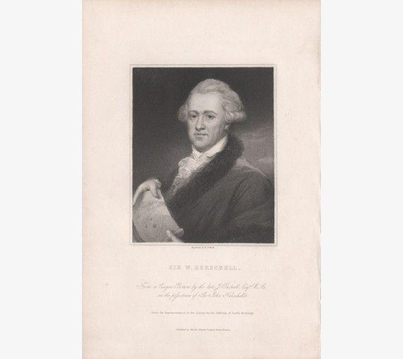 Herschel portrait engraving astronomer composer