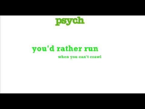 The Psych Theme Song (I Know, You Know) lyrics
