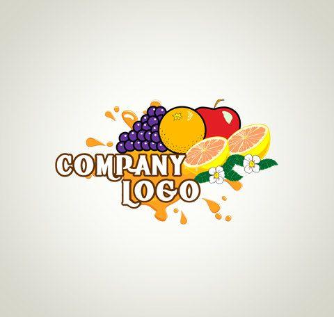 Logo Design OOAK Logo Premade Logo and Watermark Food Logo Fruit Logo Juice Logo…