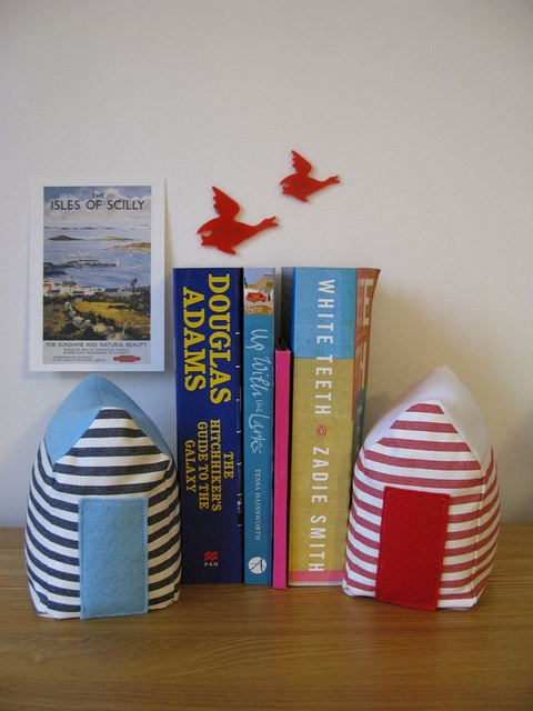 Beach Hut Fabric Doorstops / Bookends by charmaine*, via Flickr