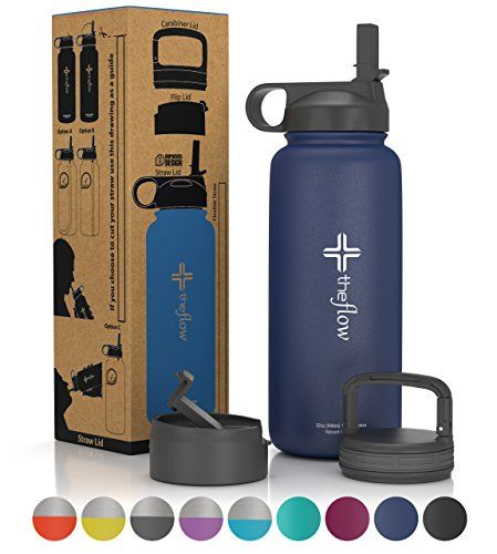 the flow Stainless Steel Water Bottle Double Walled/Vacuum Insulated - BPA/Toxin Free - Wide Mouth with Straw Lid, Carabiner Lid and Flip Lid, 32 oz (1 liter),18oz (500 ml) - 3 Lids PackBecause you never know what kind of cap you might need we have included 3 different lids – straw, wide mouth and flip lid.100% Hydro Flask CompatibleBoth our bottle and the lids are 100% Hydro Flask compatible, so you can combine and use either the bottle or the lids with Hydro F...