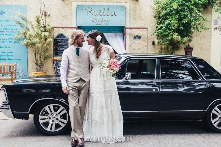 Casamento   Andressa e Rodrigo   Ruella Bistrô   São Paulo - SP - Fotos por Ale Borges - Carro para Casamento Landau
