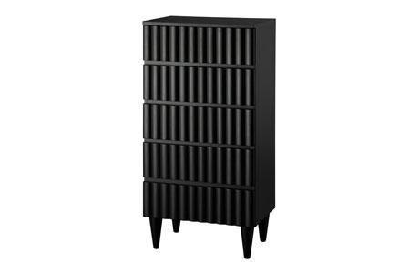 Hazel 5 drawer dresser. Finish available as shown only in matt black.