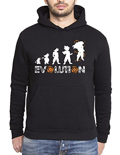 Son Goku Evolution sudadera con capucha para hombre Goku Dragon Master Son Ball Vegeta Turtle Roshi Db, Farbe2:Negro;Grᅵᅵe2:L #camiseta #realidadaumentada #ideas #regalo