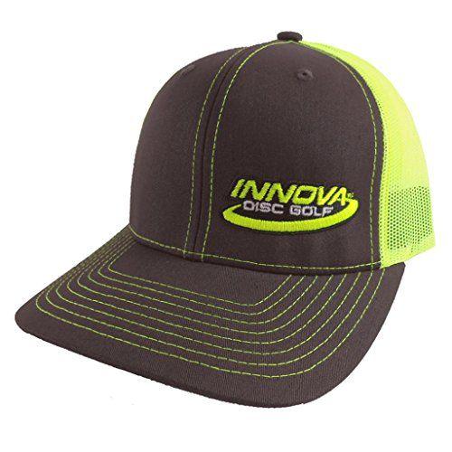 Innova Logo Adjustable Mesh Disc Golf Hat - Charcoal/Neon Green