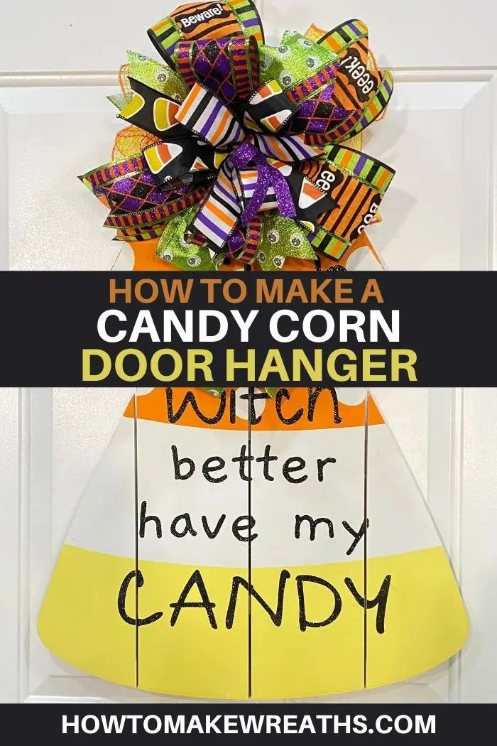 How To Make A Candy Corn Door Hanger Decor Accessories Diy How To Make Wreaths Fall Decor Diy
