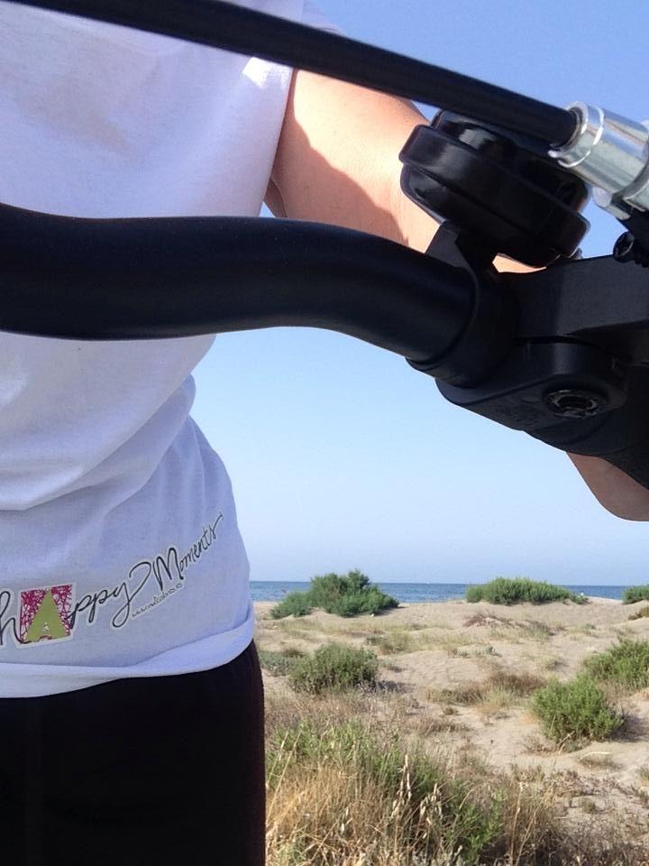 #happymoments desde la Playa San Miguel, en Almerimar (El Ejido, Andalucía), sol, playa y bicicleta.