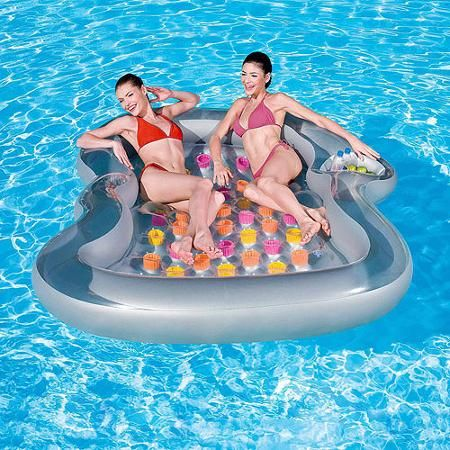 Splash and Play Double Designer Inflatable Pool Lounge Float $33.97