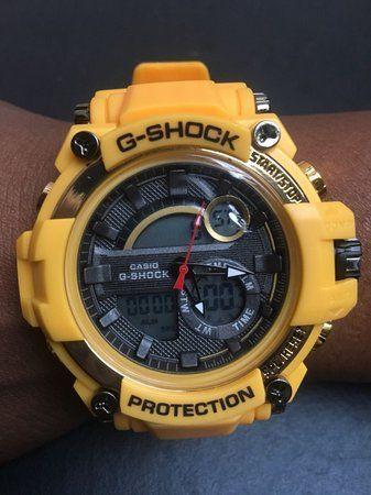 1721870ad25 Compre replica primeira linha G Shock barato com preço de atacado em  amarelo