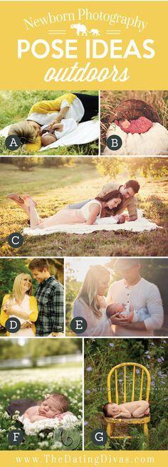 Precious Newborn Photography Pose Ideas Outdoors
