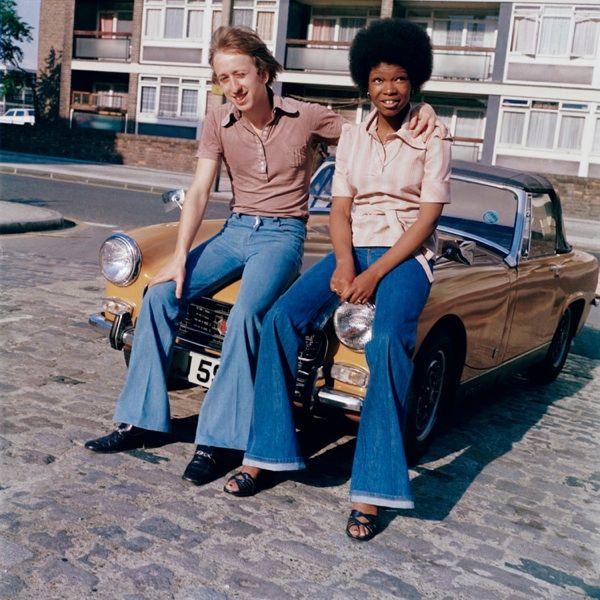 "East End Couple, London, England, United Kingdom, 1975-79, photograph by Bandele ""Tex"" Ajetunmobi."