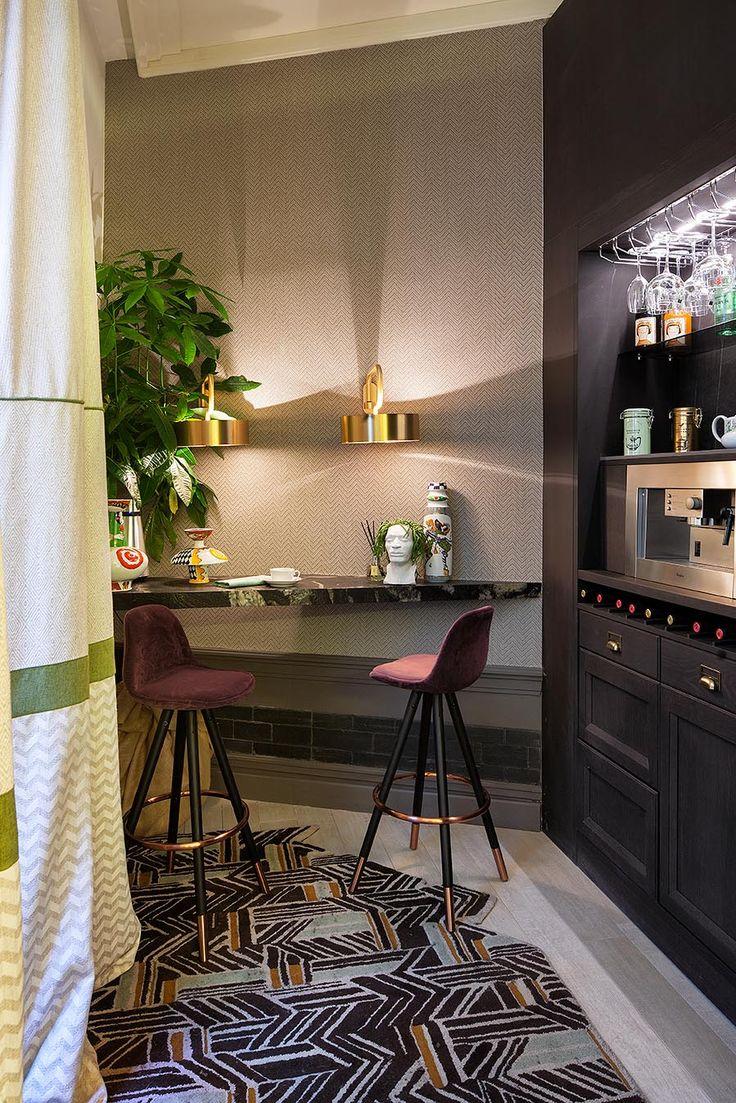 El gin-bar del espacio CUPA STONE en Casa Decor 2018, tu rincón favorito para descansar | #cupastone #piedranatural #casadecor2018 #casadecor #madrid #decoración #bar #encimera #mesa #decoración #interiorismo #ideas #inspiración #hogar