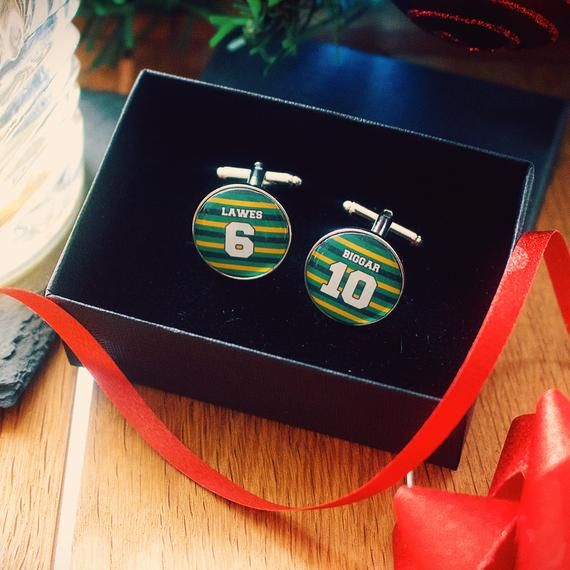 Northampton Saints Rugby Cufflinks Personalised Gift For Rugby Fan Christmas Present For Men Christmas Presents For Men Presents For Men Personalized Gifts