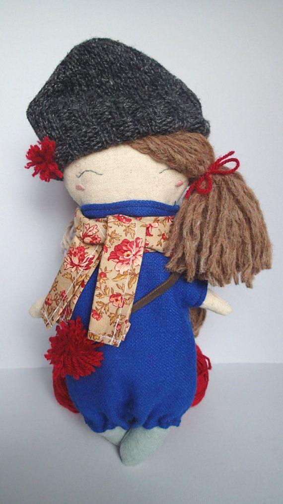 Sophie The Kitten! Handmade linen toy, handmade doll, rag doll, stuffed kitten, plush kitten, linen kitten, plush doll, soft toy, stuffed. From Italy with Love by Marta Cielecka